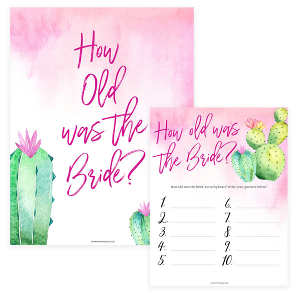 How Old was the Bride Game - Fiesta