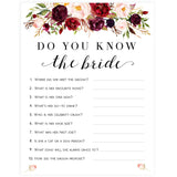 Do You Know the Bride Game - White Marsala