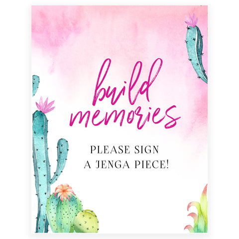 Build Memories Jenga Sign - Fiesta