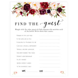 Find The Guest Bridal Game - White Marsala