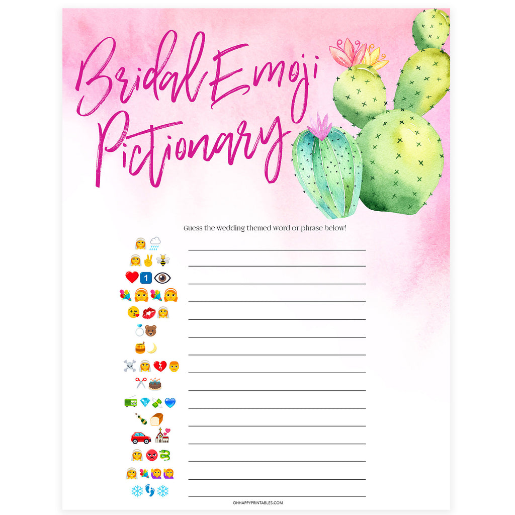 This is a picture of Emoji Bridal Shower Game Free Printable with regard to answer key