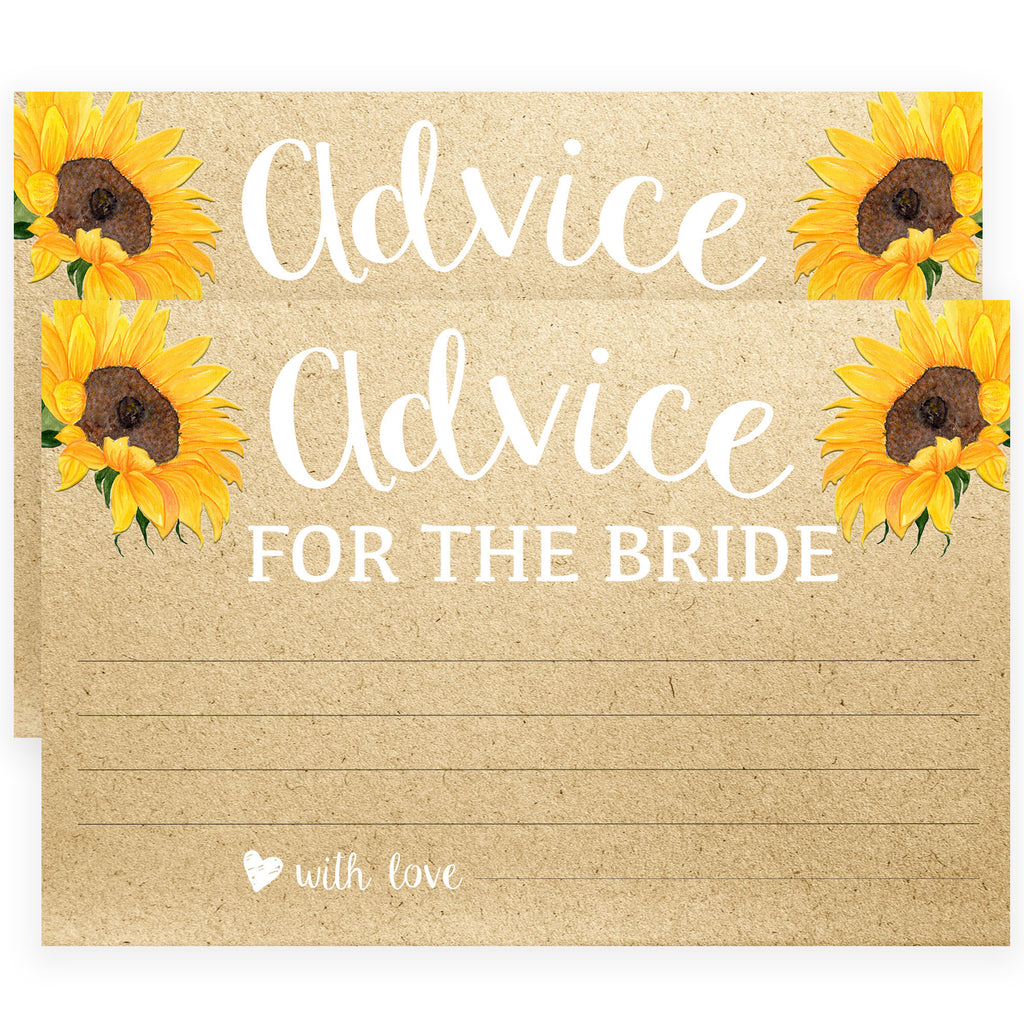 graphic relating to Printable Pictures of Sunflowers identified as Assistance for the Bride Playing cards - Sunflowers