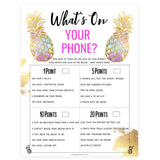 What's on Your Phone - Gold Pineapple