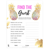 Find The Guest Bridal Game - Gold Pineapple