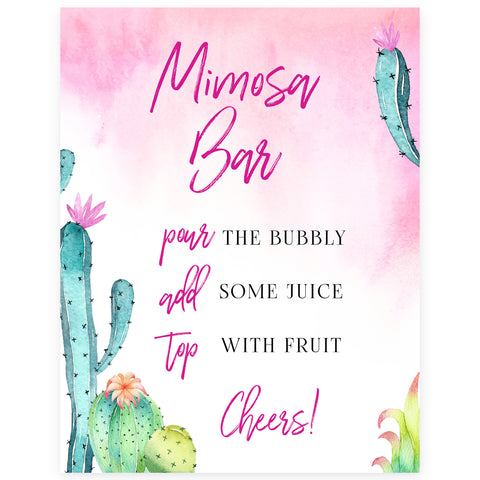Mimosa Bar Sign - Fiesta