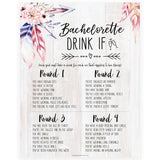 Bachelorette Drink If Game - Boho