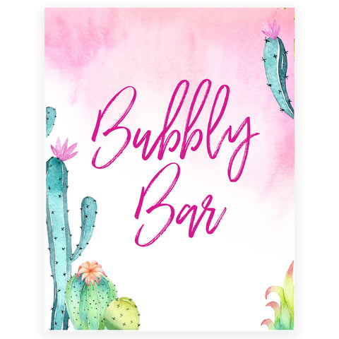 Bubbly Bar Sign - Fiesta