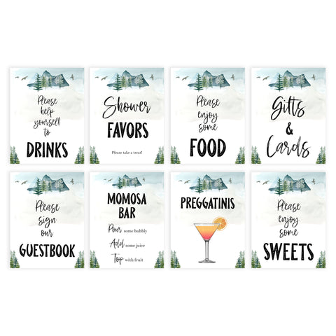 baby tables signs pack, Adventure baby decor, printable baby table signs, printable baby decor, baby adventure table signs, fun baby signs, baby adventure fun baby table signs