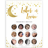 Labour or Lovin Game, Twinkle Little Star Baby Shower Games, Gold Labour or Lovin, Lovin or Labour, Little Star Porn or Labour Game, fun baby games, popular baby games