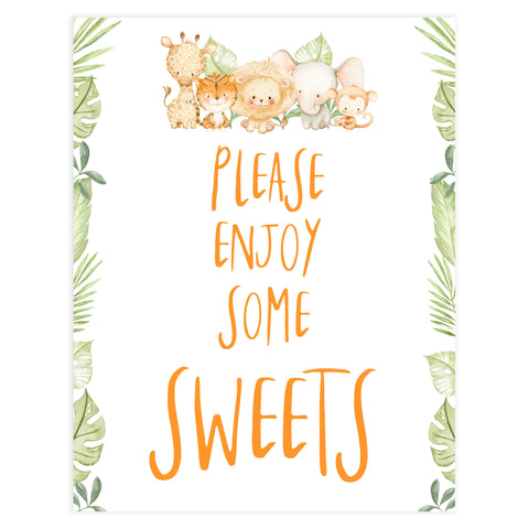 sweets baby shower table signs, Safari animals baby decor, printable baby table signs, printable baby decor, baby safari animals table signs, fun baby signs, baby safari animals fun baby table signs