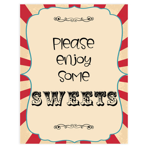 sweets baby table signs, sweets baby table decor sign, Circus baby decor, printable baby table signs, printable baby decor, carnival table signs, fun baby signs, circus fun baby table signs