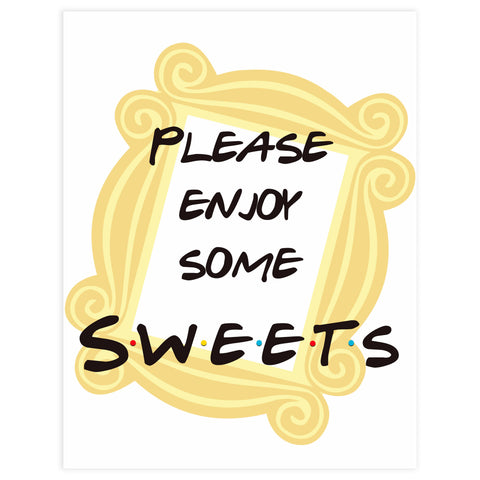 sweets baby table sign, sweets baby sign, Printable baby shower games, friends fun baby games, baby shower games, fun baby shower ideas, top baby shower ideas, friends baby shower, friends baby shower ideas
