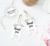 Thank You Tags EDITABLE - Botanical