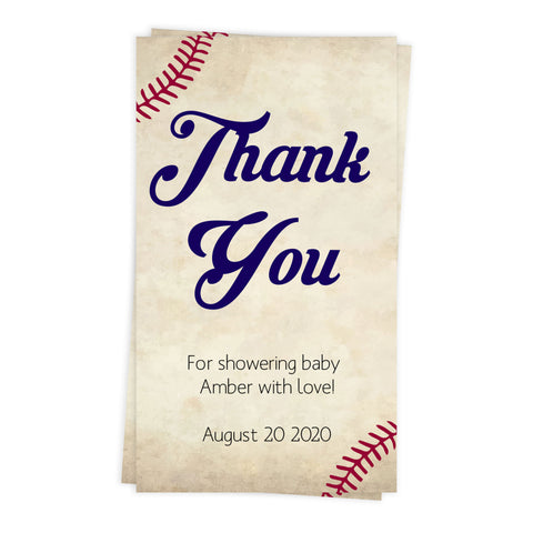 Baseball Baby shower thank you tags, editable baby thank you tags, printable baby shower thank you tags, baseball baby shower decor, fun baseball baby shower ideas