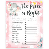 pink elephant baby games, the price is right baby shower games, printable baby shower games, baby shower games, fun baby games, popular baby games, pink baby games