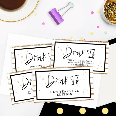 drink if new years eve game, printable new years eve games, new years eve, party games