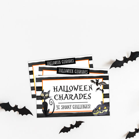 halloween charades game, halloween party games, halloween games, fun halloween games, kids halloween games