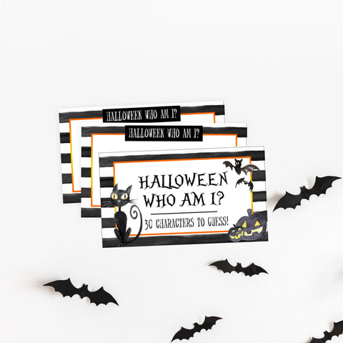halloween who am I game, halloween party games, halloween games, fun halloween games, kids halloween games