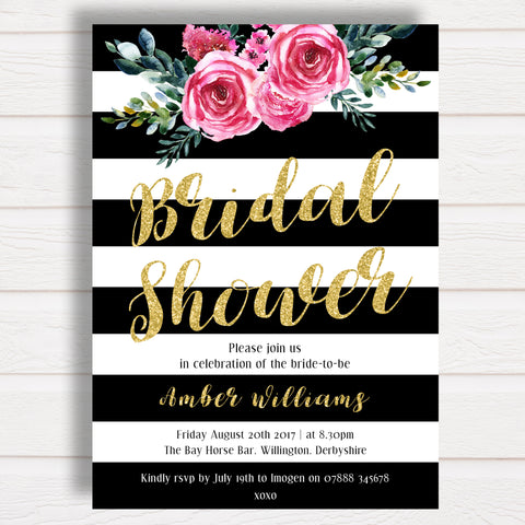 Kate Spade Bridal Shower Invitation Printable