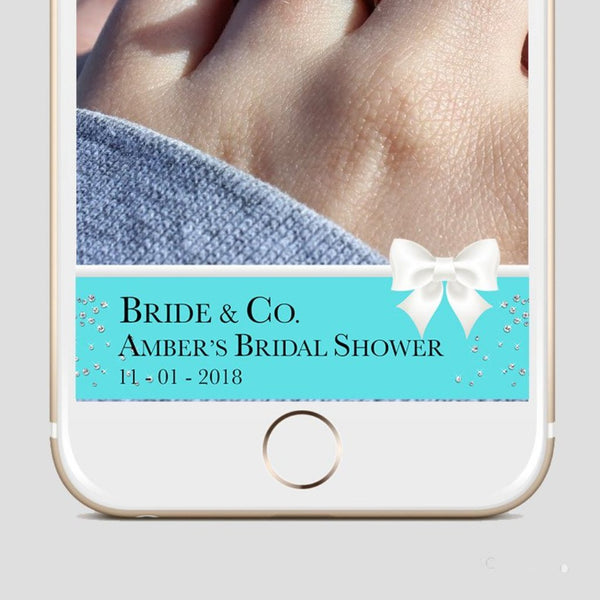 Tiffany & Co Bridal shower snapchat filter