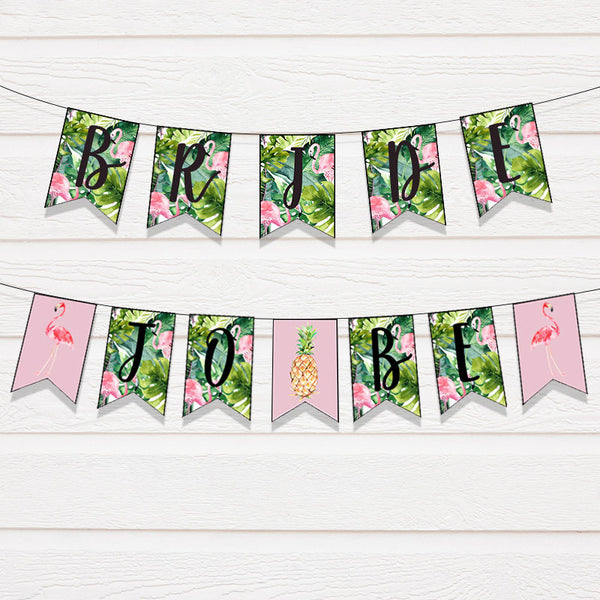 Tropical Bridal Shower Bunting