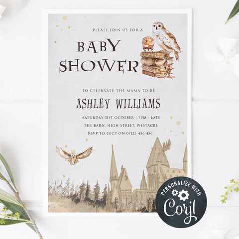 editable baby shower invitations, harry potter baby shower invitations, editable baby shower invites, corjl baby shower, baby shower invites