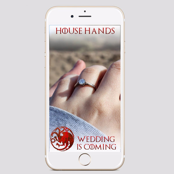 Game of Thrones Wedding Snapchat Filter