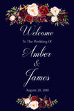 Marsala Wedding Welcome Sign Printable Wedding Signs
