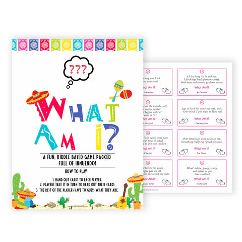 what am I game, Printable baby shower games, Mexican fiesta fun baby games, baby shower games, fun baby shower ideas, top baby shower ideas, fiesta shower baby shower, fiesta baby shower ideas