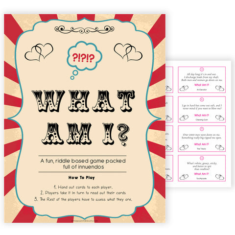 Circus what am I riddle game baby shower games, circus baby games, carnival baby games, printable baby games, fun baby games, popular baby games, carnival baby shower, carnival theme