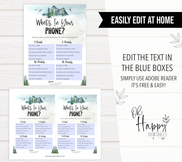 editable whats in your phone game, Printable baby shower games, adventure awaits baby games, baby shower games, fun baby shower ideas, top baby shower ideas, adventure awaits baby shower, baby shower games, fun adventure baby shower ideas