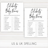gender neutral baby shower games, celebrity baby names baby games, printable baby shower, popular baby games, fun baby games, baby shower games
