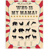 Circus who is my mama baby shower games, circus baby games, carnival baby games, printable baby games, fun baby games, popular baby games, carnival baby shower, carnival theme