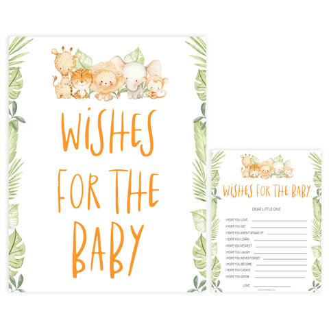 wishes for the baby game, Printable baby shower games, safari animals baby games, baby shower games, fun baby shower ideas, top baby shower ideas, safari animals baby shower, baby shower games, fun baby shower ideas