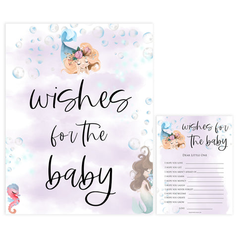 wishes for the baby keepsake, Printable baby shower games, little mermaid baby games, baby shower games, fun baby shower ideas, top baby shower ideas, little mermaid baby shower, baby shower games, pink hearts baby shower ideas