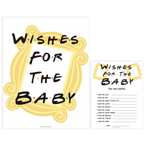 wishes for the baby game, Printable baby shower games, friends fun baby games, baby shower games, fun baby shower ideas, top baby shower ideas, friends baby shower, friends baby shower ideas