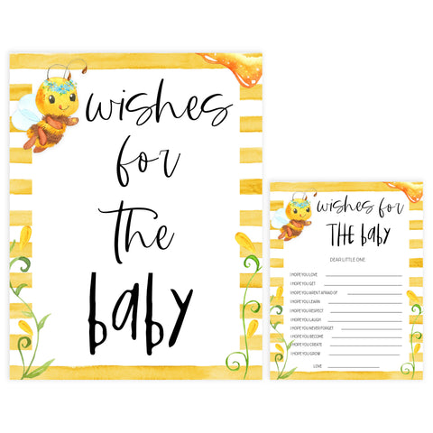 wishes for the baby game, Printable baby shower games, mommy bee fun baby games, baby shower games, fun baby shower ideas, top baby shower ideas, mommy to bee baby shower, friends baby shower ideas
