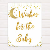 Twinkle Little Star Wishes For The Baby, Baby Wishes, Wishes for The Baby, Gold Baby Shower, Baby Shower Baby Wishes, Baby Wishes Cards, fun baby games, popular baby games