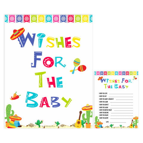 wishes for the baby game, baby wishes game, Printable baby shower games, Mexican fiesta fun baby games, baby shower games, fun baby shower ideas, top baby shower ideas, fiesta shower baby shower, fiesta baby shower ideas