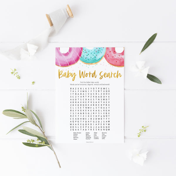 baby shower word search game,  Printable baby shower games, donut baby games, baby shower games, fun baby shower ideas, top baby shower ideas, donut sprinkles baby shower, baby shower games, fun donut baby shower ideas