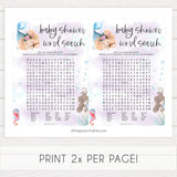 baby shower word search game, Printable baby shower games, little mermaid baby games, baby shower games, fun baby shower ideas, top baby shower ideas, little mermaid baby shower, baby shower games, pink hearts baby shower ideas