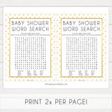 baby shower word search, baby word search game, Printable baby shower games, baby gold dots fun baby games, baby shower games, fun baby shower ideas, top baby shower ideas, gold glitter shower baby shower, friends baby shower ideas