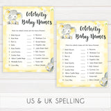 yellow elephant baby games, celebrity baby names baby games, yellow baby games, elephant baby shower, fun baby games, top 10 baby games, popular baby games, printable baby games