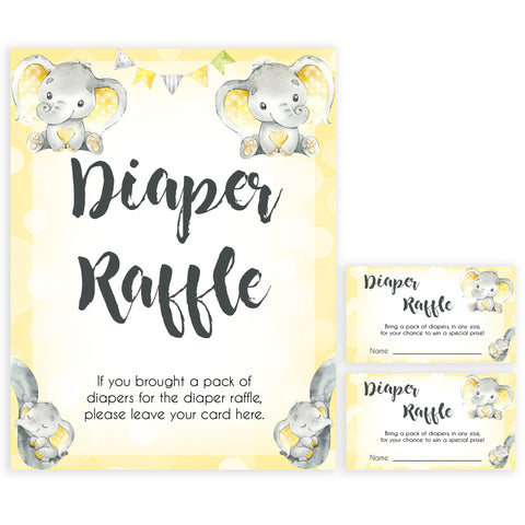 yellow elephant baby games, diaper raffle baby games, yellow baby games, elephant baby shower, fun baby games, top 10 baby games, popular baby games, printable baby games