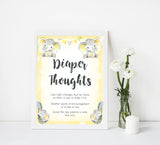 diaper thoughts baby sign, Printable baby shower games, fun baby games, baby shower games, fun baby shower ideas, top baby shower ideas, yellow elephant baby shower, blue baby shower ideas