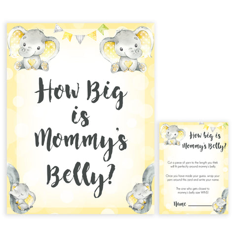 yellow elephant baby games, how big is mummys belly baby games, yellow baby games, elephant baby shower, fun baby games, top 10 baby games, popular baby games, printable baby games