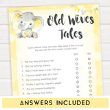 yellow elephant baby games, old wives tales baby games, yellow baby games, elephant baby shower, fun baby games, top 10 baby games, popular baby games, printable baby games