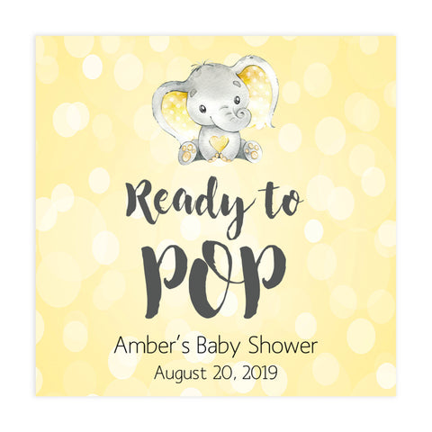 ready to pop tags, pop tags, Printable baby shower games, fun baby games, baby shower games, fun baby shower ideas, top baby shower ideas, yellow elephant baby shower, blue baby shower ideas