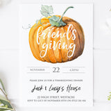 thanksgiving invitations, friendsgiving invitation, editable invitations, printable invitations