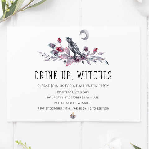 drink up witches invitation, halloween printable invitations, editable halloween invitations, fun halloween invites, halloween invites, halloween ideas